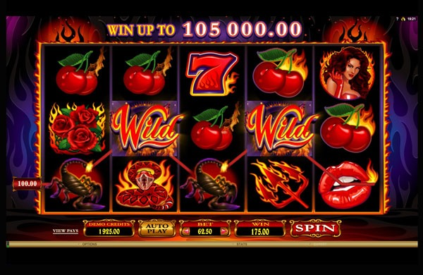 Red Hot Devil Machine à Sous Gratuit (25 Lignes) Microgaming