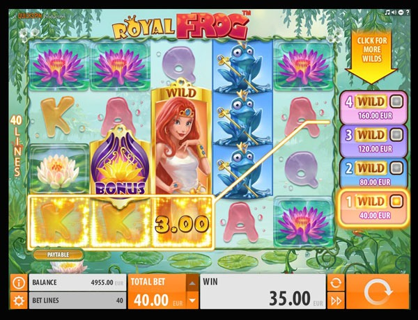 Royal Frog Machine à Sous Gratuit (40 Lignes) Quickspin