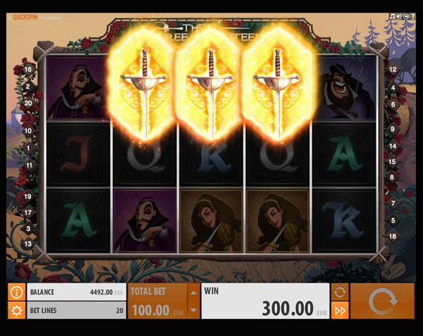 The Three Musketeers Machine à Sous Gratuit (20 Lignes) Quickspin