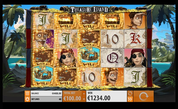 Treasure Island Machine à Sous Gratuit (40 Lignes) Quickspin