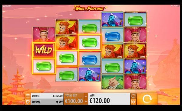 Wins Of Fortune Machine à Sous Gratuit (259 Lignes) Quickspin
