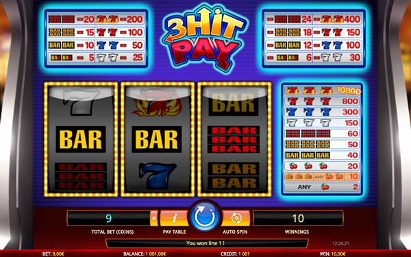 3 Hit Pay Machine à Sous Gratuit (3 Lignes) Isoftbet