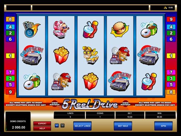 5 Reel Drive Machine à Sous Gratuit (9 Lignes)