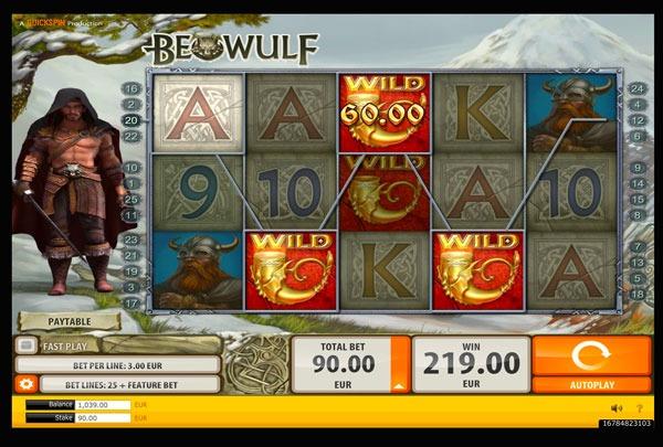 Beowulf Machine à Sous Gratuit (Lignes) Quickspin