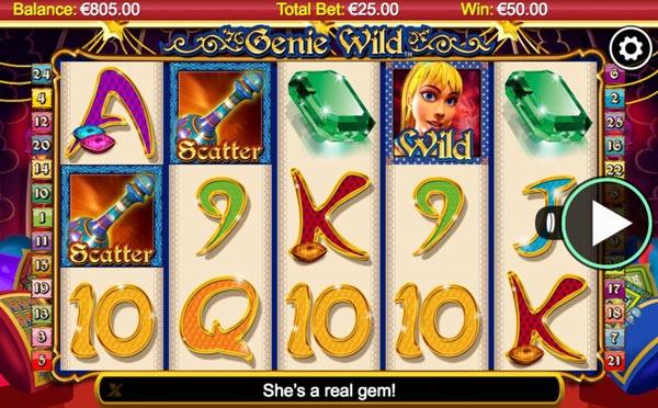Genie Wild Machine à Sous Gratuit (25 Lignes) Nextgen