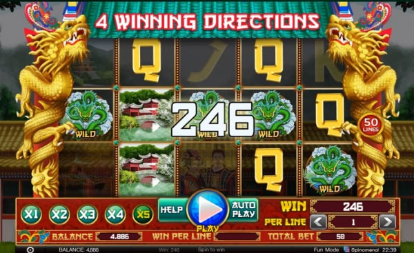 4 Winning Directions Machine à Sous Gratuit (50 Lignes) Spinomenal
