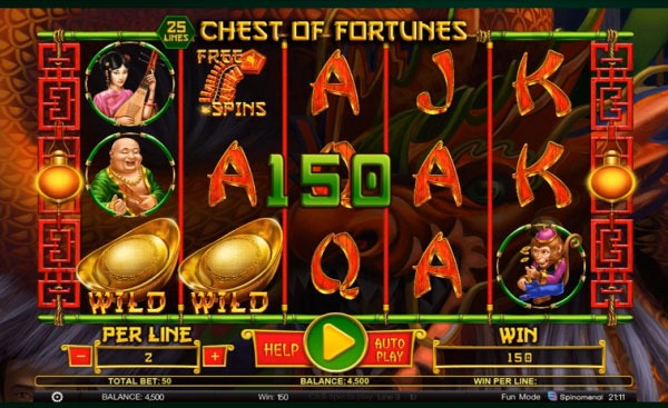 Chest of Fortunes Machine à Sous Gratuit (25 Lignes) Spinomenal