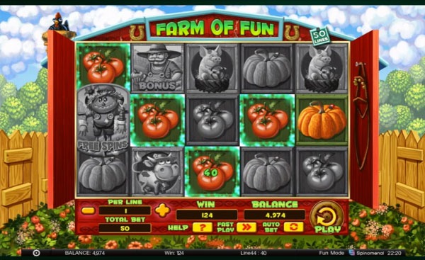 Farm of Fun Machine à Sous Gratuit (50 Lignes) Spinomenal
