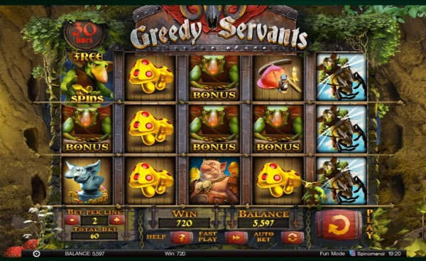 Greedy Servants Machine à Sous Gratuit (30 Lignes) Spinomenal