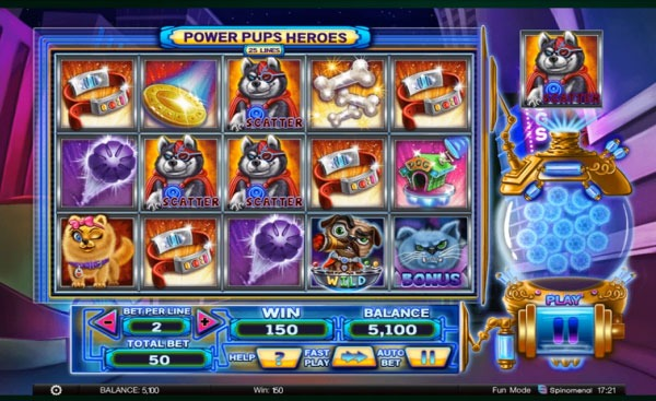 Power Pups Heroes Machine à Sous Gratuit (25 Lignes) Spinomenal