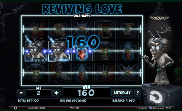 Reviving Love Machine à Sous Gratuit (243 Lignes) Spinomenal