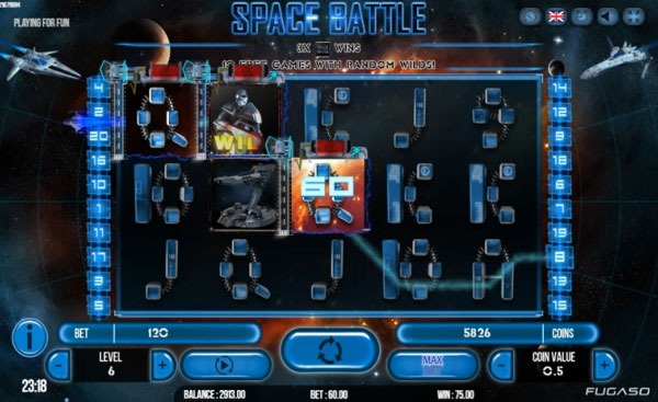 Space Battle Machine à Sous Gratuit (20 Lignes) Fugaso