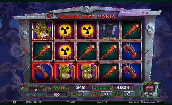 Zombie Slot Mania Machine